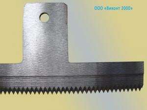 Фото  Нож зубчатый 230х49х2, 0 мм для упаковочных автоматов и полуавтоматов