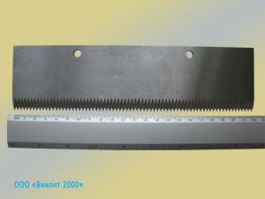Фото  Нож прямой зубчатый для Flow-pack автоматов 220х59х2, 5 мм
