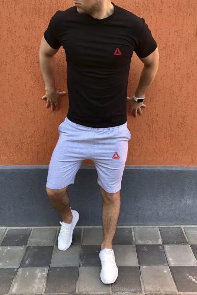 Мужской летний спортивный костюм (шорты+футболка) Reebok