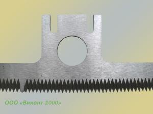 Фото  Нож зубчатый 237х65х2, 5 мм для фасовочно-упаковочных автоматов «Базис» АРУ-8. 03