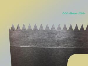 Фото  Нож промышленный 237х66х1, 8 мм. для упаковочных автоматов «Базис» АРУ-2.04