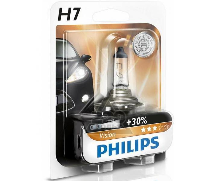 Лампа PHILIPS галоген. 12В 55W H7 +30% 12972PR блистер