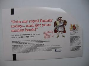 Фото Билеты и жетоны, разное Historic Royal Palaces TOWER OF LONDON