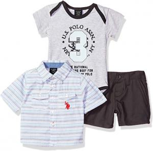 Фото В наличии , Детская одежда, Одежда от 0 до 2 лет Комплект U.S POLO 3 в 1