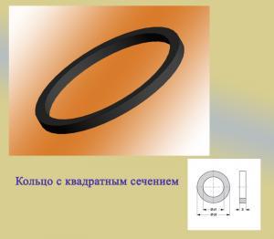 Фото  Резиновые кольца уплотнительные с квадратным сечением