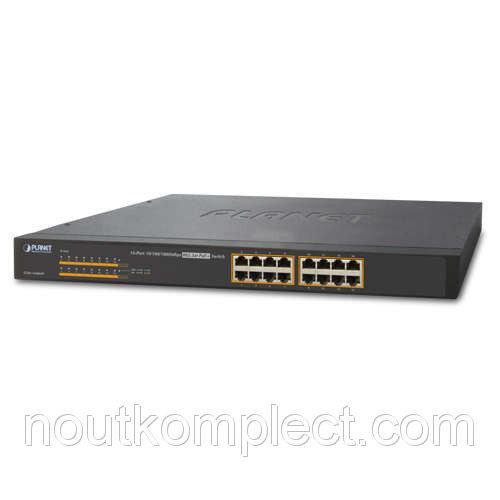 Неуправляемый гигабитный коммутатор PoE Planet GSW-1600HP (16-Port 10/100/1000Mbps 802.3at PoE+)