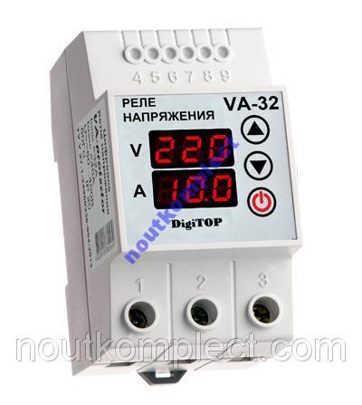 Реле с контролем VA-32A Din защита от перепада