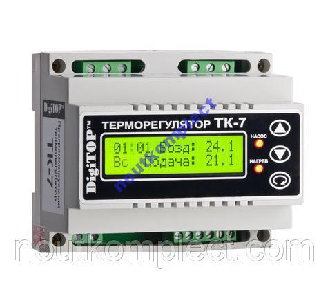 Терморегулятор ТК-7 DIN недельный программатор