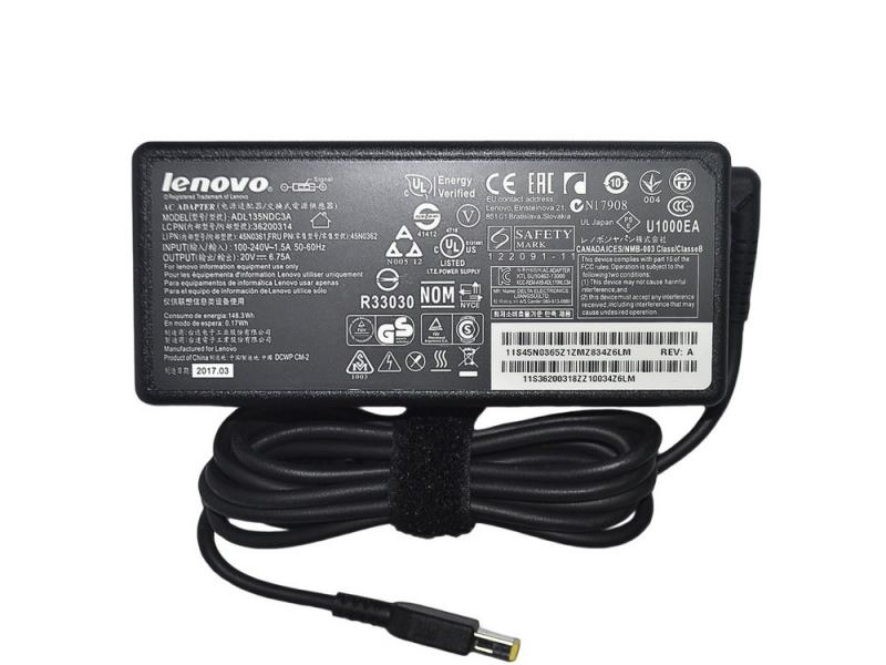Блок Питания Lenovo 20V 6.75A 135W USB Square pin Original