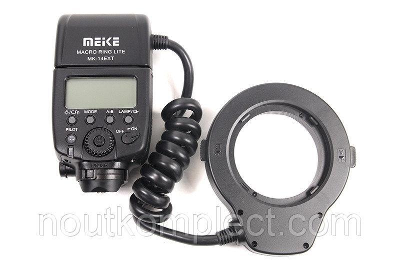 Кольцевая макровспышка Meike для Canon MK-14EXT