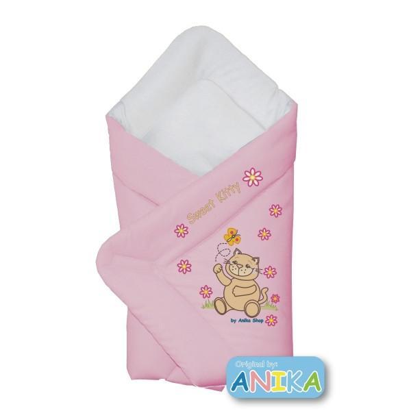 Конверт-одеяло для выписку Котик Aikababy Польша