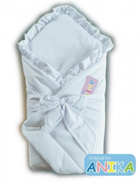 Конверт-одеяльце для новорожденных Мишка на луне (белый) Anikababy