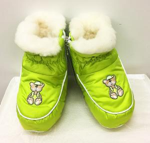 Фото Обувь для малышей Пинетки-сапожки для детей на овчине Greta (цвета в ассортименте)