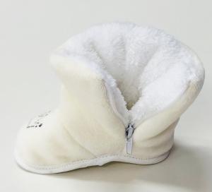 Фото Обувь для малышей Демисезонные велюровые теплые угги-пинетки-сапожки  для малышей