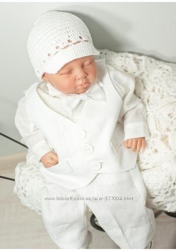 Костюм для крещения и праздников мальчика из 100 % органического льна Maks Jozefinka