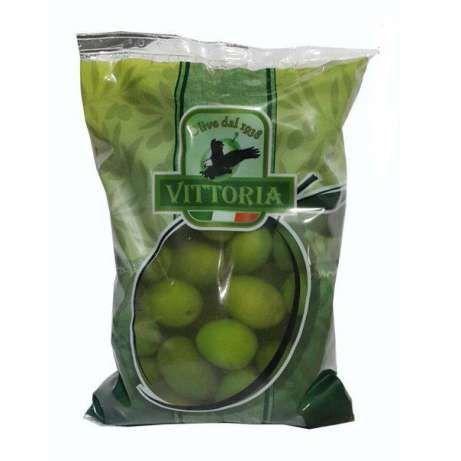 Оливки зеленые с косточкой Vittoria 850г.