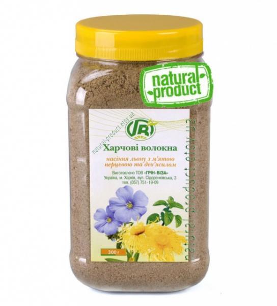 Клетчатка семян льна c мятой и девясилом, 300 гр