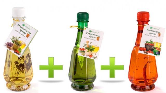 Набор салатных масел, 3 продукта