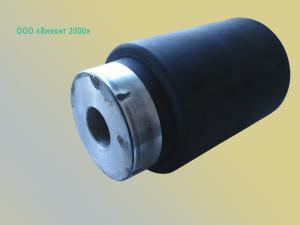 Фото  Восстановление резинового покрытия ролика ø75хø21х125 мм методом прямого прессования