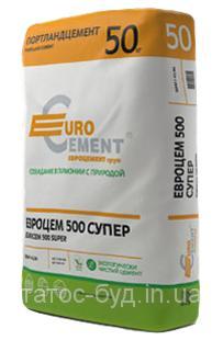 Цемент ПЦ I-500 H (Евроцемент), 50 кг завод.тара