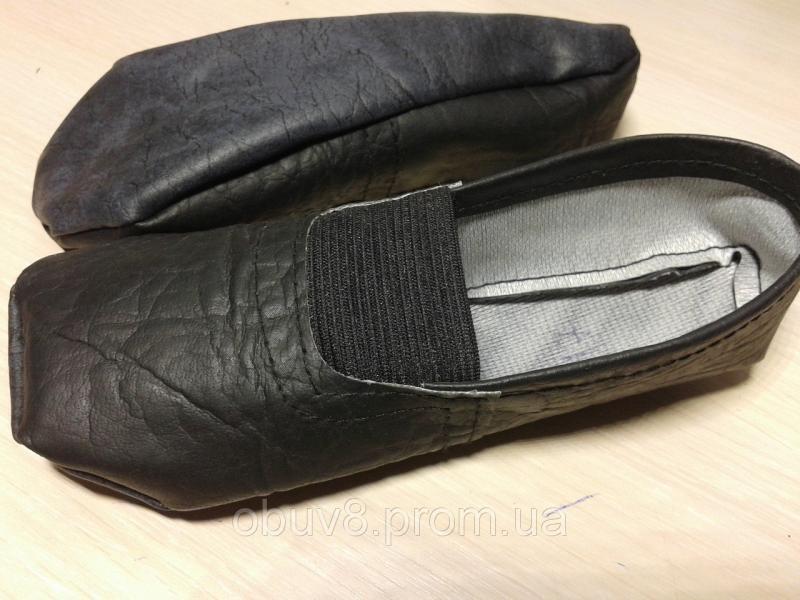 Чешки черные тапочки гимнастические оптом