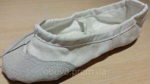 Фото Чешки балетки обувь для танцев гимнастики хореографии оптом Балетки белые обувь для хореографии оптом