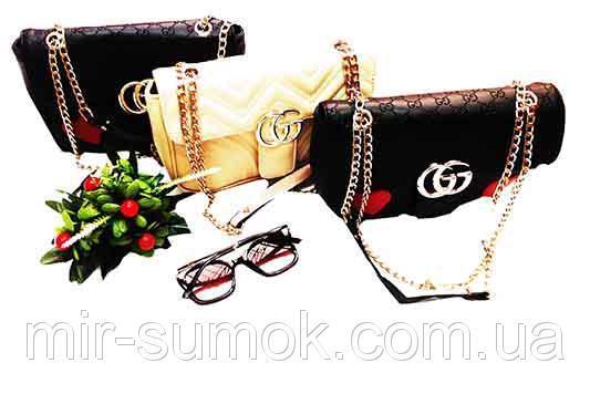 Женская сумка Gucci Артикул 5-15 синяя
