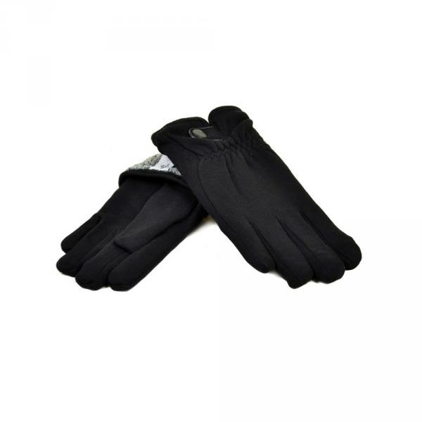 Перчатка Мужская стрейч МариFashion M1/17 мод1 black махра