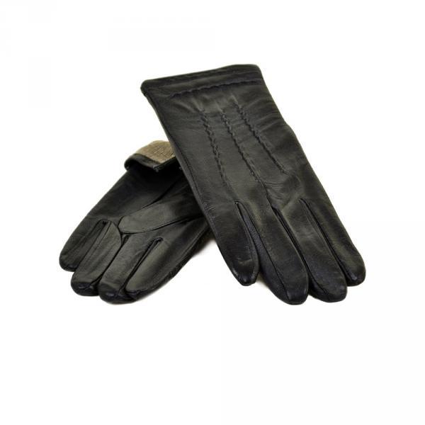 Перчатка Мужская кожа МариClassic M21-1/17 мод4 black махра