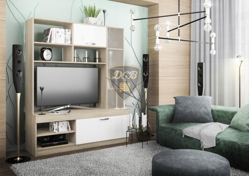 Фото Стенки и мебель для гостиной  Гостиная Софи 1,4м СЦС1400.1 (ДСВ мебель)