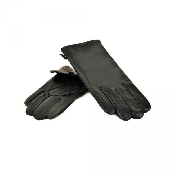 Перчатка Мужская кожа МариClassic M31/17 мод2 black шерсть