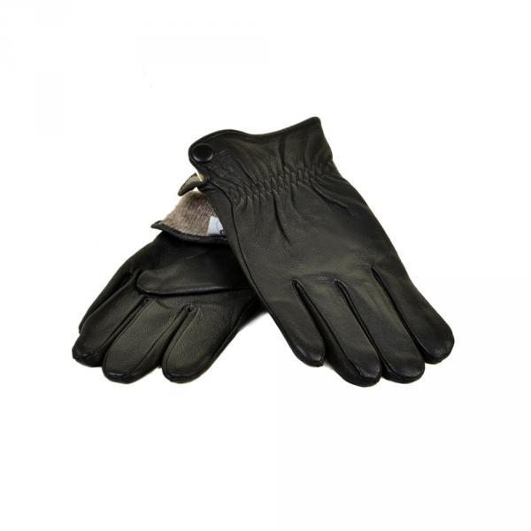 Перчатка Мужская кожа МариClassic M22/17 мод2 black Шерсть