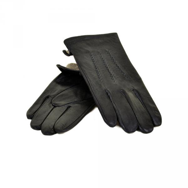 Перчатка Мужская кожа МариClassic M21-1/17 мод3 black махра