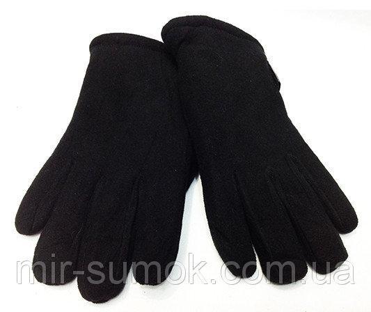 Мужские перчатки  флис Тепло Артикул P-0035 №2 черные
