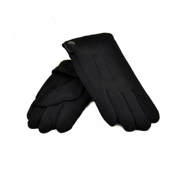 Перчатка Мужская стрейч МариFashion M2/17 мод5 black плюш