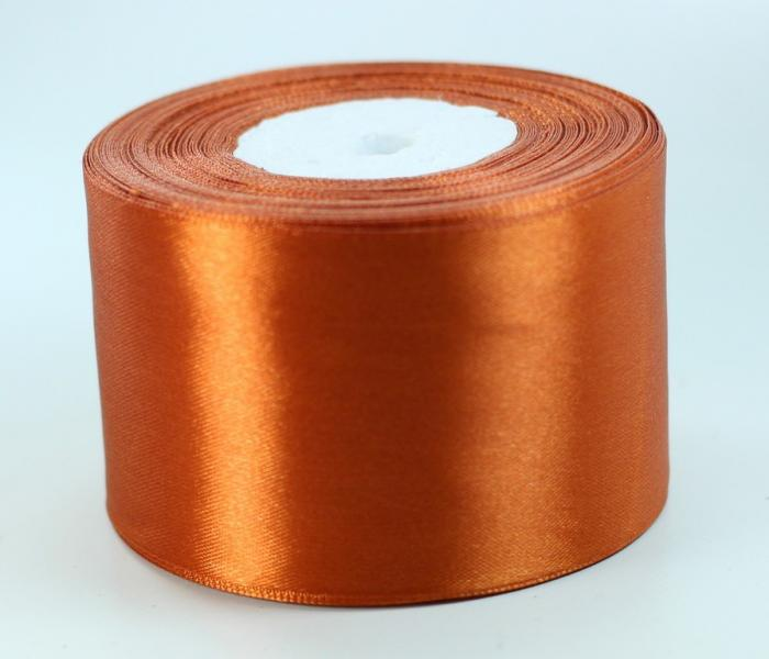 Фото Ленты, Лента атласная   однотонная ,5см Атласная лента   5 см, цвет терракотовый