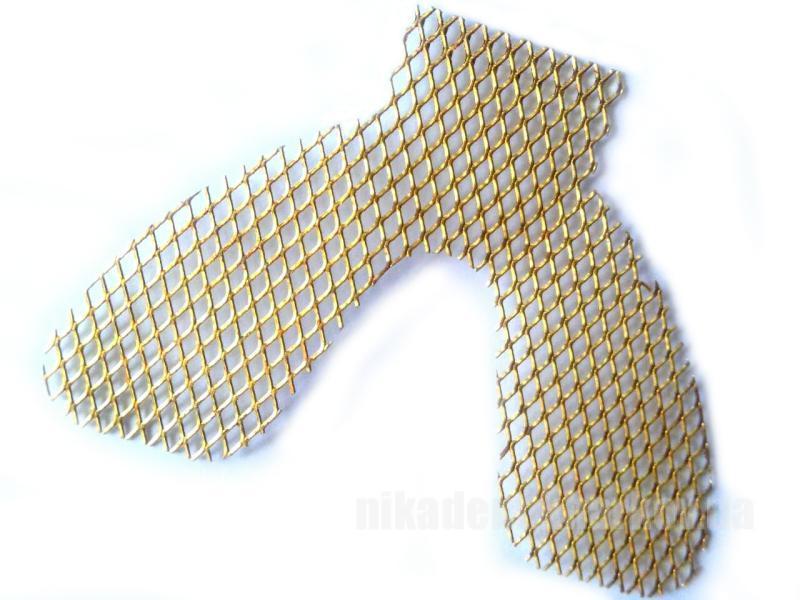 Фото Для зуботехнических лабораторий, АКСЕССУАРЫ, Инструменты Сетка  укрепляющая позолоченная верх \ низ