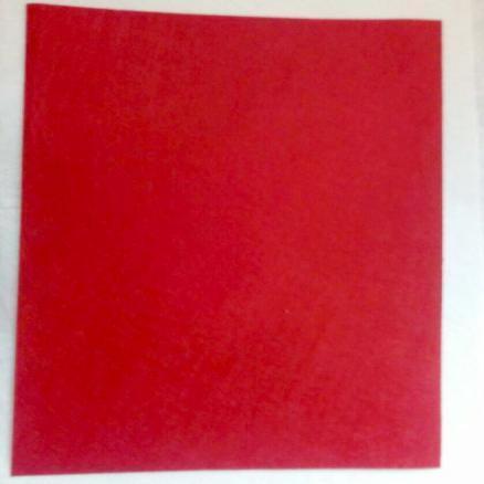 Фетр красного цвета, размер листа 20х30 см