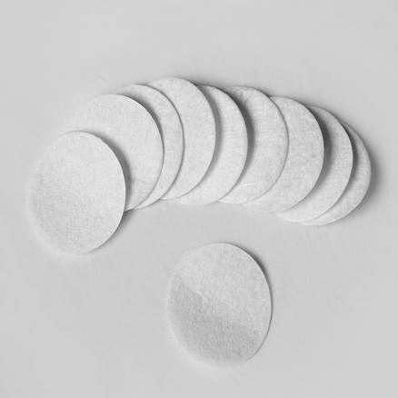 Кружочек фетровый белый 4 см