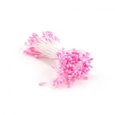 Тычинки  двухсторонние розовые  0.4 мм.    В  пучке  85  ниточек.