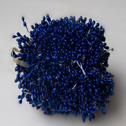 Фото Тычинки , добавки,ягодки Тычинки   тёмно - синие    2,5 - 3  мм.   В  1  упаковке  86  ниточек. ( 172 тыч. )