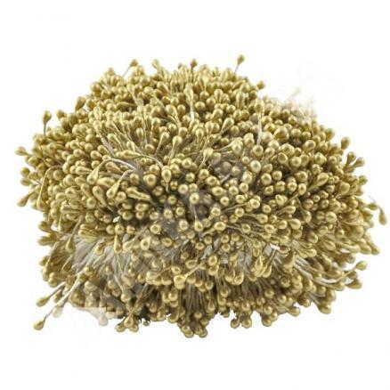Фото Тычинки , добавки,ягодки Тычинки   двухсторонние  2,5 - 3  мм.  Золотого  цвета ,  в 1  упаковке  86  ниточек