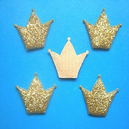 Корона на тканевой основе 18х15 мм золото