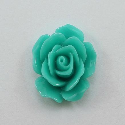 Кабашон акрил 20 мм.  роза мятная