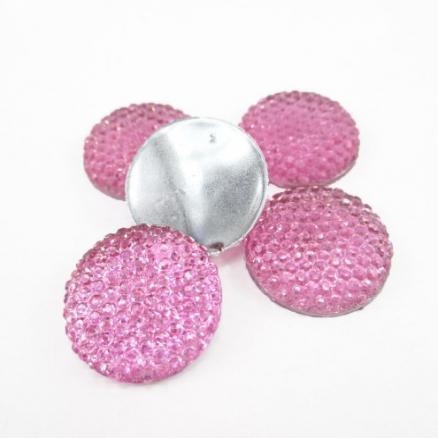 Кабашон  розовый 19 мм.  в  пупырышках.