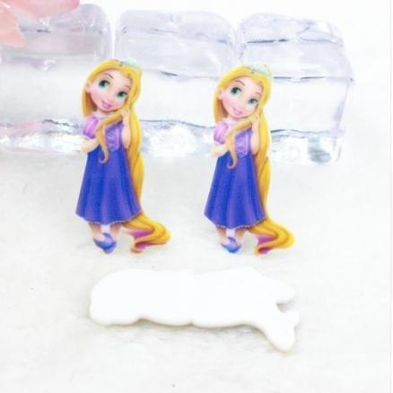 Фото Серединки ,кабашоны Серединка пластиковая   принцесса- Рапунцель 40х16мм