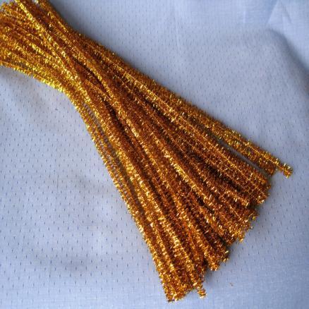 Синельная проволока 30 см золото