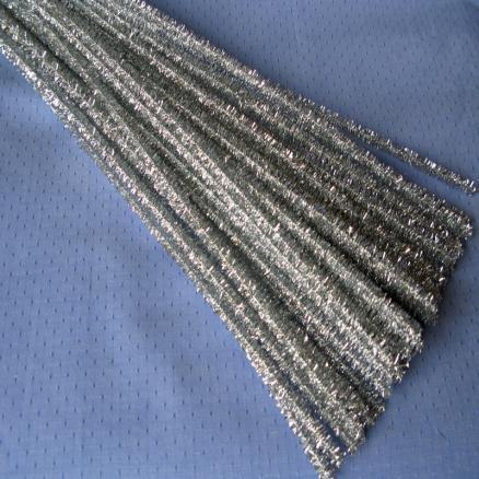 Синельная проволока 30 см серебро