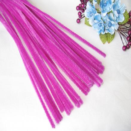 Синельная проволока 30 см ярко розовая