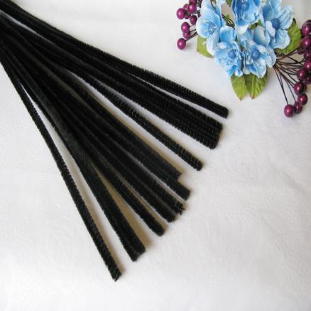Синельная проволока 30 см чёрная